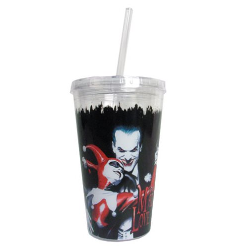 Batman Joker and Harley Quinn Mad Love 16 oz. Travel Cup