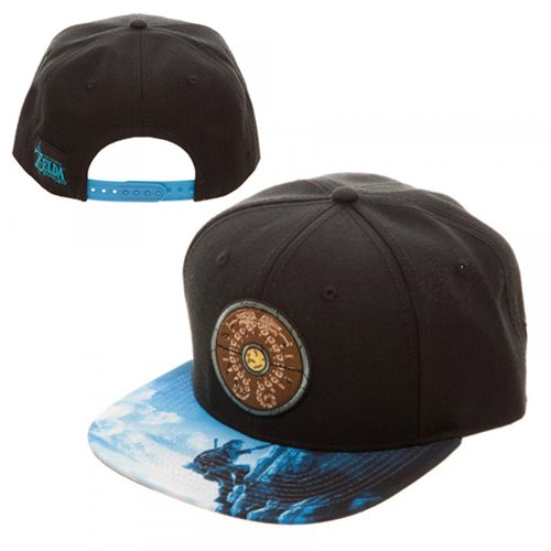Legend of Zelda Breath of the Wild Shield Sublimated Bill Snapback Hat