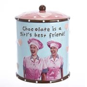 I Love Lucy Chocolate is a Girl's Best Friend Cookie Jar