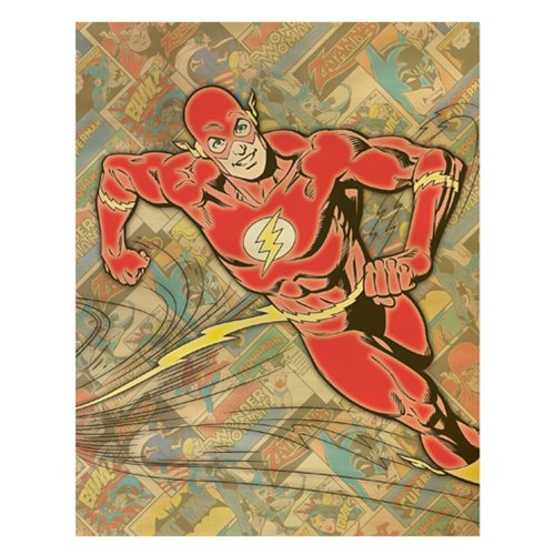 Flash Comic Background Canvas Print
