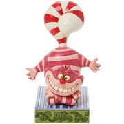 Disney Traditions Alice in Wonderland Cheshire Cat Candy Cane Tail Candy Cane Cheer by Jim Shore Statue
