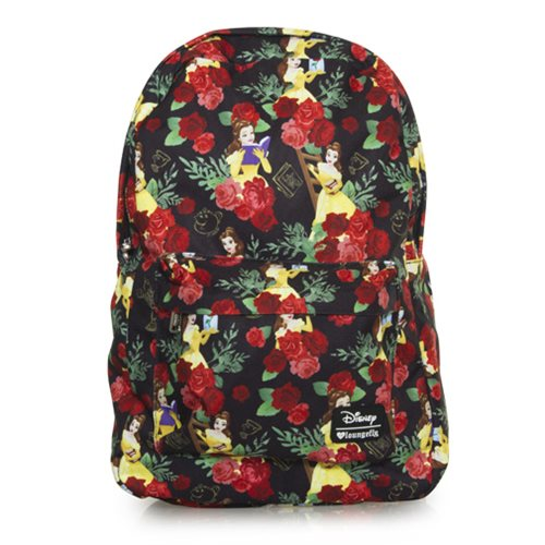 Beauty and the Beast Belle Roses Print Backpack