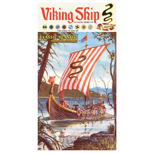 Viking Ship Reissue Classic 1:64 Scale Plastic Model Kit