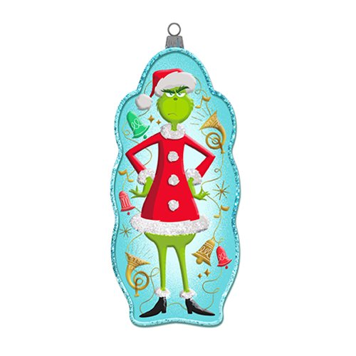 The Grinch 4 3/4-Inch Glass Ornament