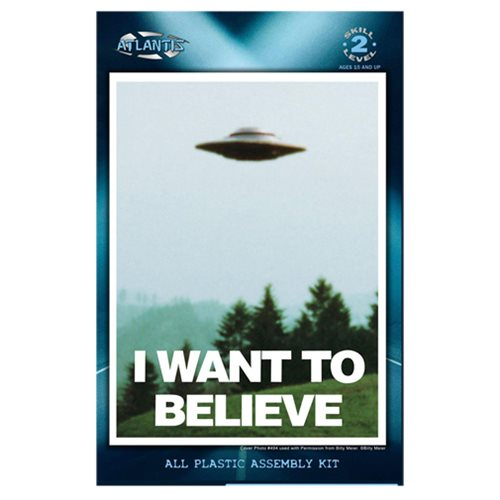 I Want to Believe Billy Meier UFO 5-inch Model Kit with Light