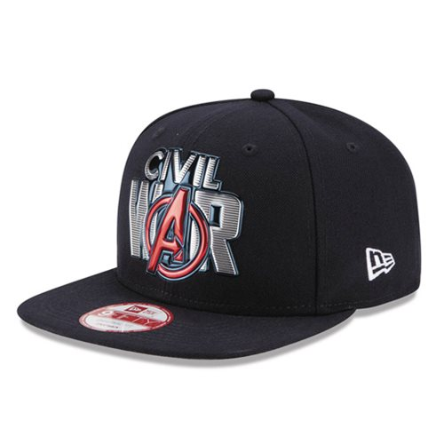 1c9fb3226b4 Captain America  Civil War Title Chrome 950 Snap Back Hat ...