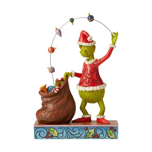 Dr. Seuss The Grinch Juggling Into Bag Statue by Jim Shore
