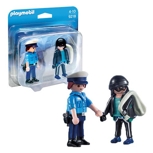Playmobil 9218 Policeman and Burglar Action Figures