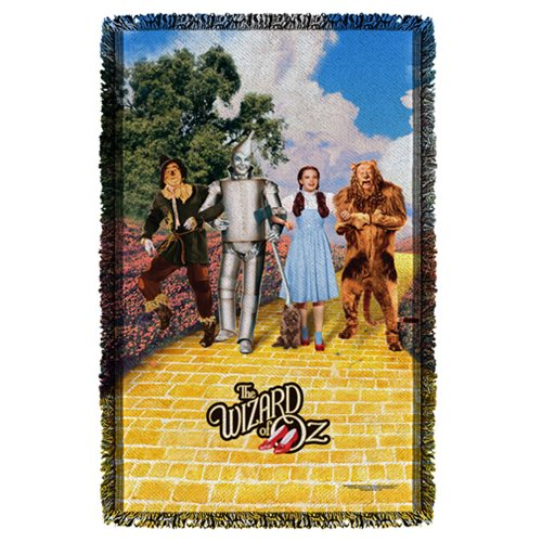 The Wizard of Oz On The Road Woven Tapestry Throw Blanket