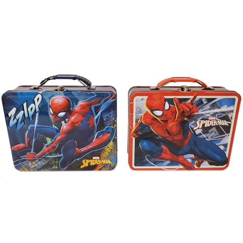 Spider-Man 2020 Large Carry All Tin Tote Lunch Box Set