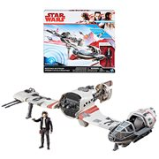 Star Wars: The Last Jedi Resistance Ski Speeder Vehicle with Poe Dameron Action Figure