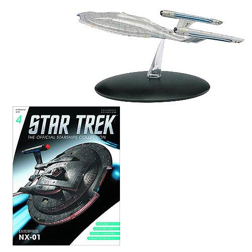 Star Trek Starships Enterprise NX-01 Vehicle with Collector Magazine