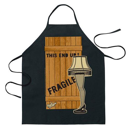 a christmas story fragile leg lamp apron