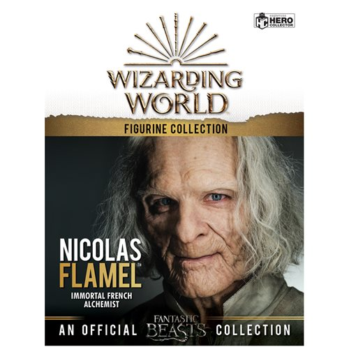 Harry Potter Wizarding World Collection Nicolas Flamel Figure with Collector Magazine