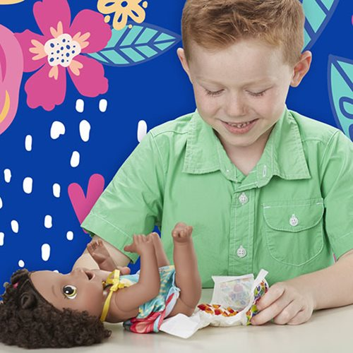 Baby Alive Snackin' Treats Baby Doll - Black Curly Hair