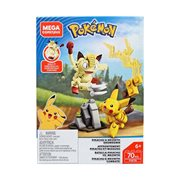Mega Construx Pokemon Pikachu vs Meowth Showdown Playset