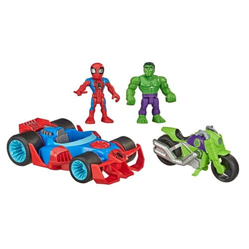 Marvel Super Hero Adventures Hulk and Spider-Man Action Racers