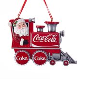 Coca-Cola Santa Train 2 1/2-Inch Resin Ornament