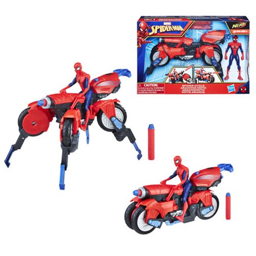 Spider-Man 3-in-1 Spider Cycle Vehicle with Action Figure