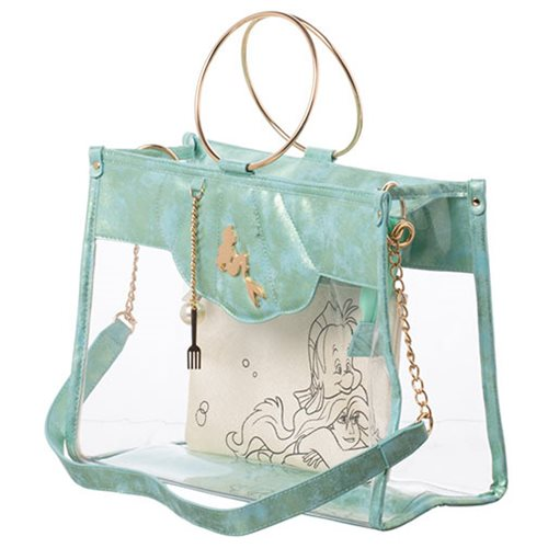 The Little Mermaid Clear Tote with Removeable Pouch