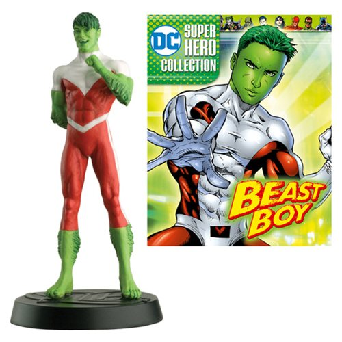 DC Superhero Beast Boy Best Of Figure with Collector Magazine #52