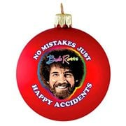 Bob Ross Red 80mm Glass Ball Ornament