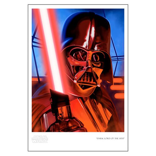 Star Wars Dark Lord of the Sith by Randy Martinez Paper Giclee Art Print