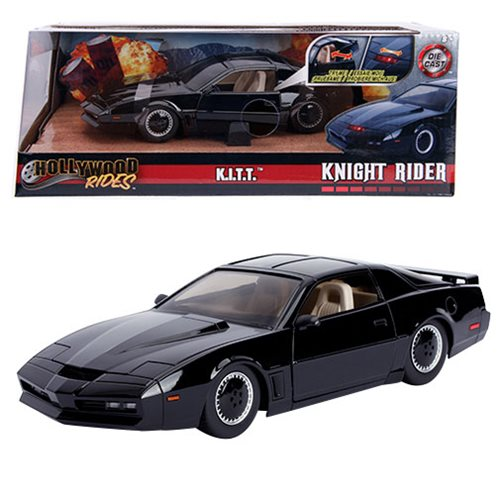 Hollywood Rides Knight Rider KITT 1982 Pontiac Trans Am 1:24 Scale Die-Cast Metal Vehicle with Lights
