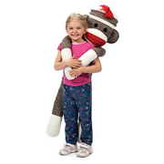 Sock Monkey Jumbo Plush