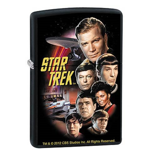 Star Trek The Original Series Crew Black Matte Zippo Lighter