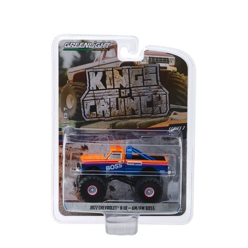 Kings of Crunch Series 3 AM/PM Boss 1972 Chevrolet K-10 1:64 Scale Monster Truck