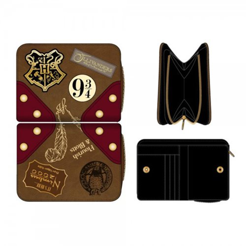 Harry Potter Platform 9 3/4 Zippered Bi-Fold Wallet