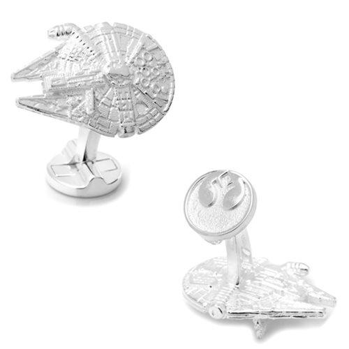 Star Wars Millennium Falcon 3D Sterling Silver Cufflinks