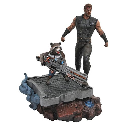 Marvel Premier Coll Avengers: Infinity War Thor and Rocket Raccoon Statue