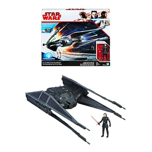 Star Wars: The Last Jedi Kylo Ren's TIE Silencer Vehicle with Kylo Ren Action Figure, Not Mint