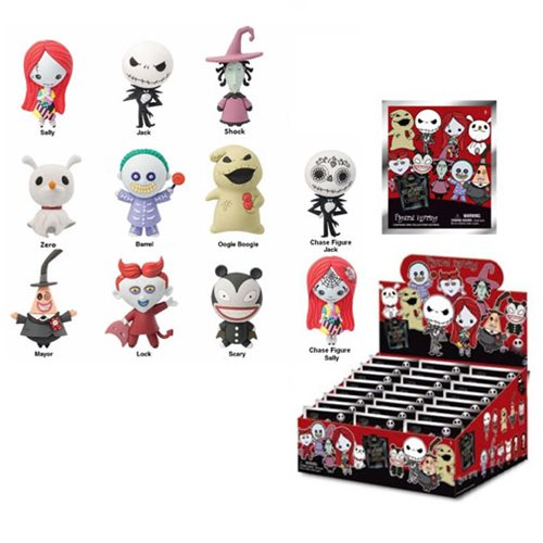 Nightmare Before Christmas Mini-Figure Key Chain 6-Pack