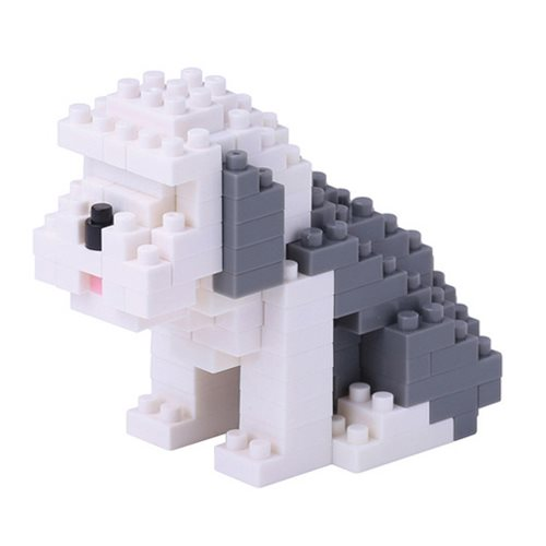 Old English Sheepdog Nanoblock Constructible Figure