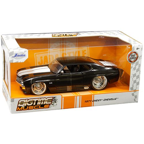 Bigtime Muscle Chevy 1971 Chevelle SS Black 1:24 Scale Die-Cast Vehicle