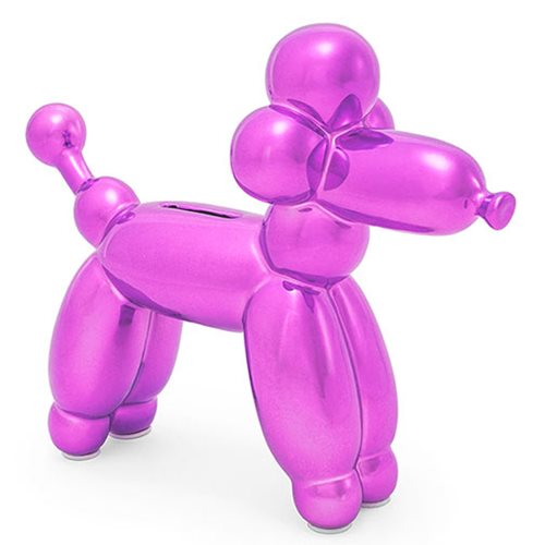 Balloon Animal French Poodle Small Pink Money Bank