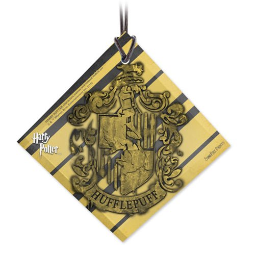 Harry Potter Hufflepuff Crest StarFire Prints Hanging Glass Ornament
