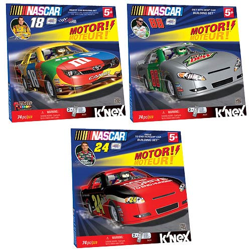 K'NEX NASCAR Motorized Car Building Set Set