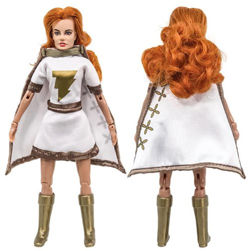 Shazam 8-Inch Retro Series Mary Marvel White and Gold Action Figure