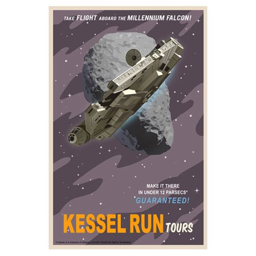 Star Wars Kessel Run Tours by Steve Thomas Canvas Giclee Art Print