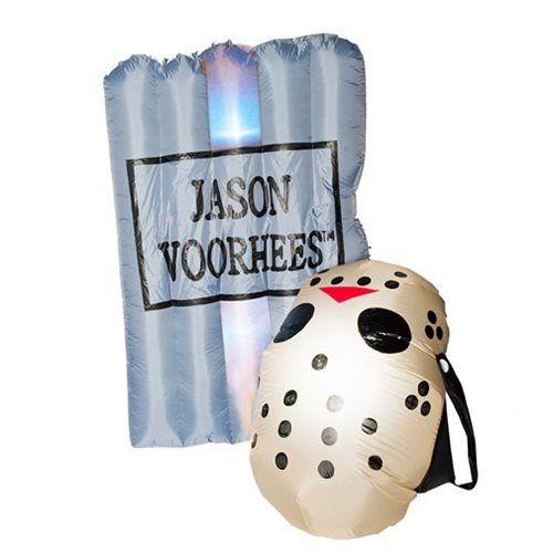 Friday the 13th Inflatable Tombstone and Mask Set