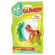 Gumby and Friends Gumby and Pokey Mini Bendable Figure 2-Pack