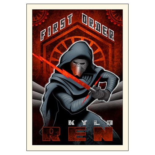 Star Wars: The Force Awakens First Order Ren Large Canvas Giclee Art Print