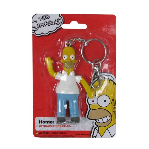 Simpsons Homer Simpson Bendable Key Chain