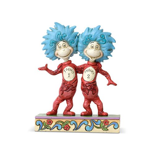 Dr. Seuss Cat in the Hat Thing 1 and Thing 2 Statue by Jim Shore