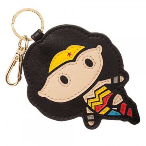 Wonder Woman PU Leather Layered Keychain