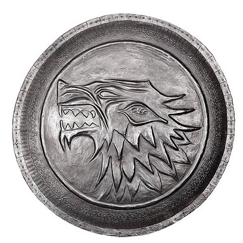 Game of Thrones Stark Direwolf Shield Pin